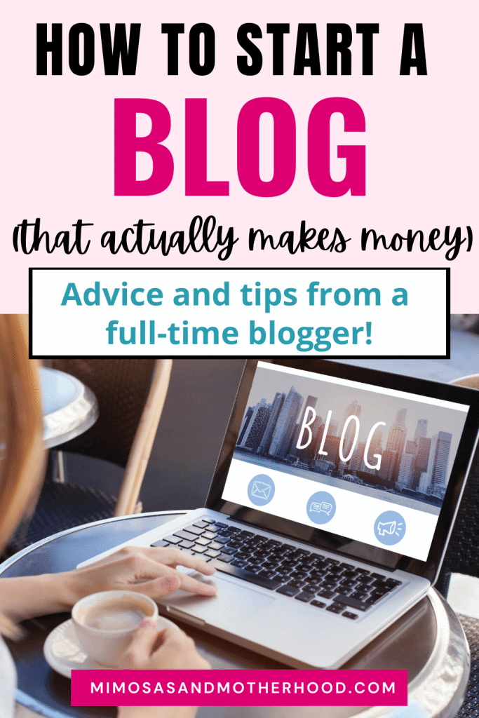 steps to starting a blog