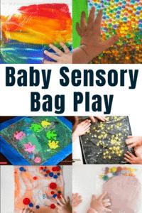 Baby sensory bag, baby sensory play