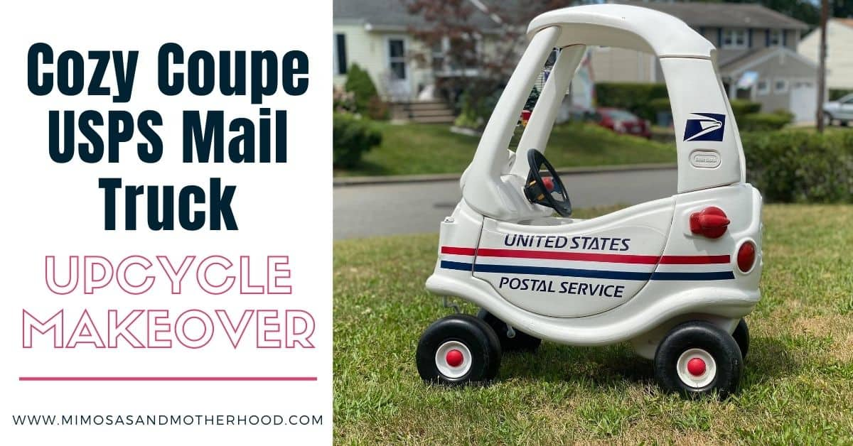 cozy coupe makeover into a mail truck