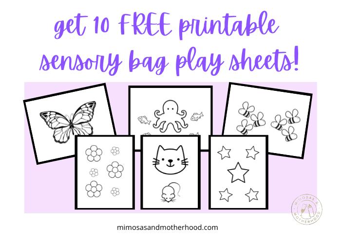 baby sensory bag printable sheets