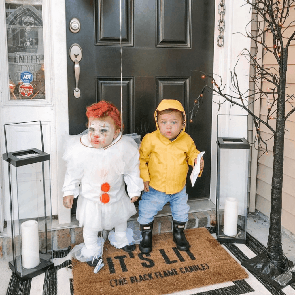kids dressed as characters from IT