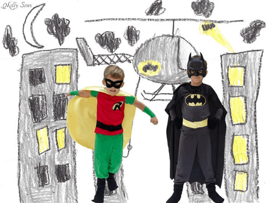 batman and robin halloween costume for brothers