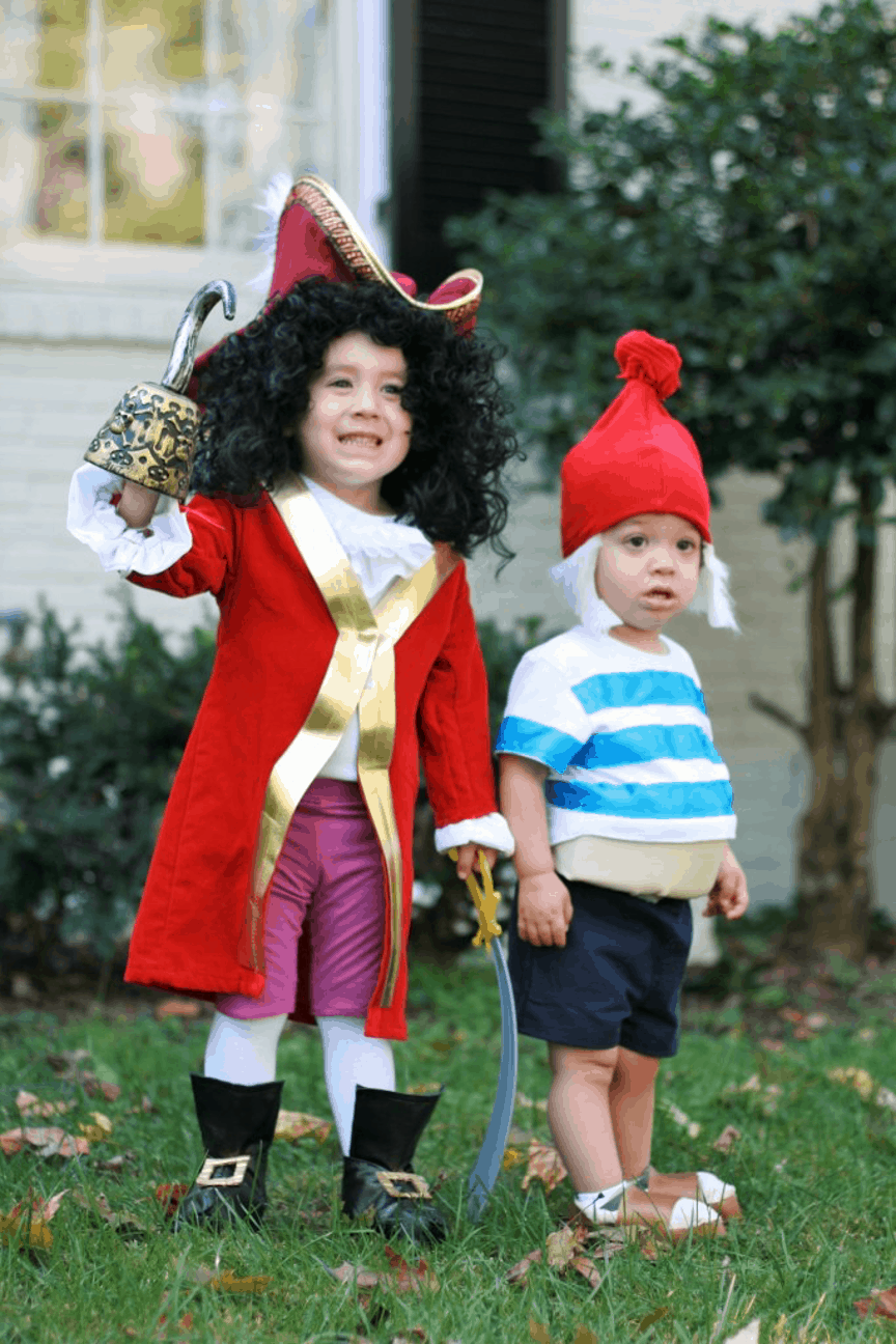 Smee and Captain Hook Kids Halloween Costume