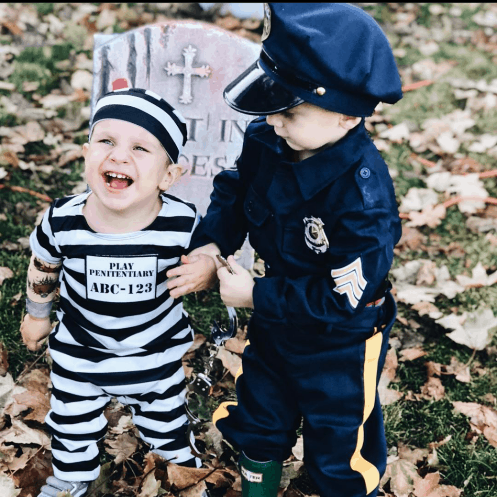 cops and robbers kids costume