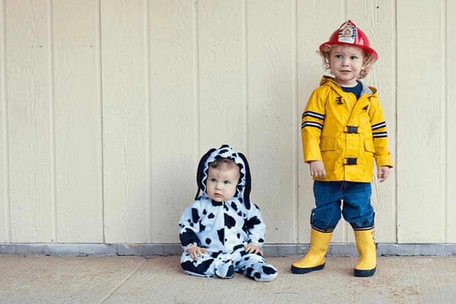 firefighter and dalmation halloween costume