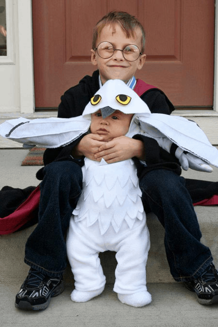 Harry Potter and Hedwig Halloween Costume