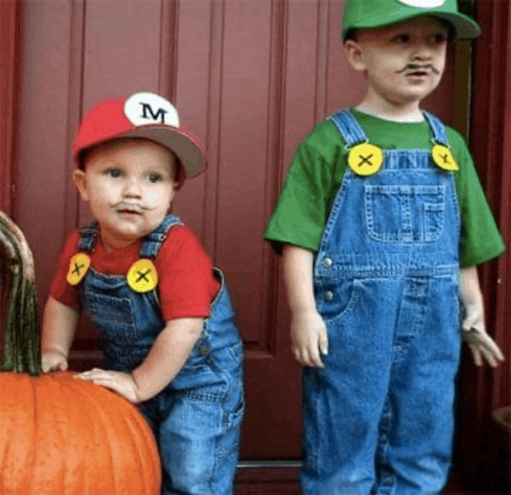 Brothers halloween costume Mario and Luigi