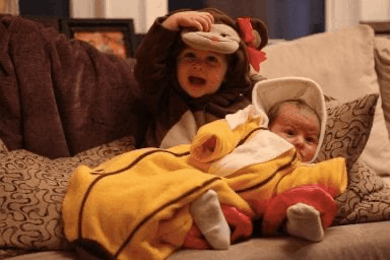 Monkey and Banana Sibling Halloween Costume