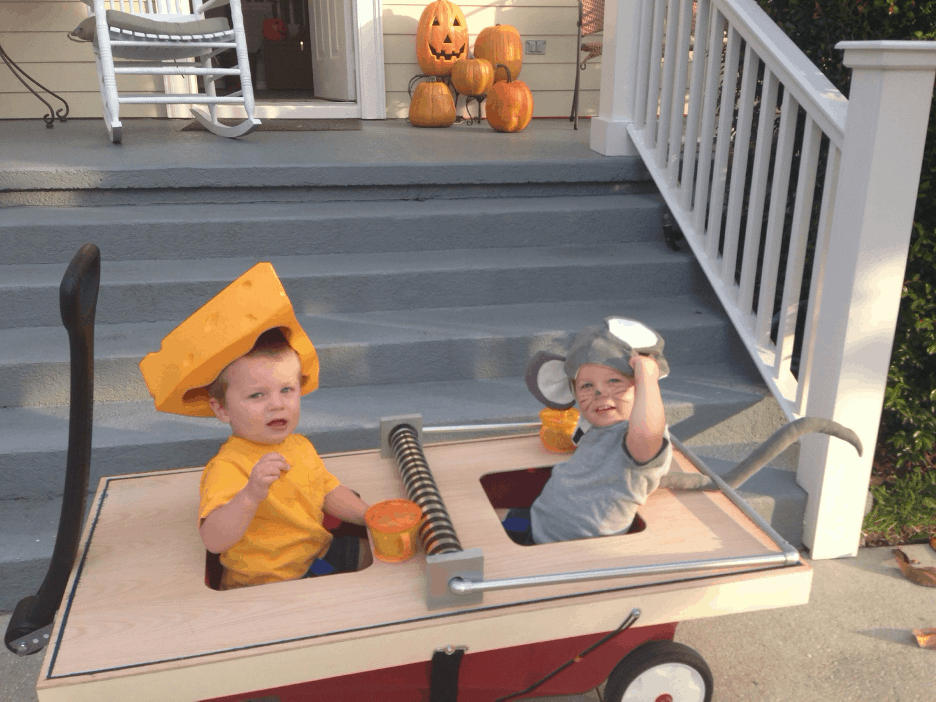 Brothers mouse and cheese halloween costume