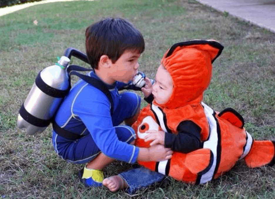 Scuba Diver and Fish Halloween Costume