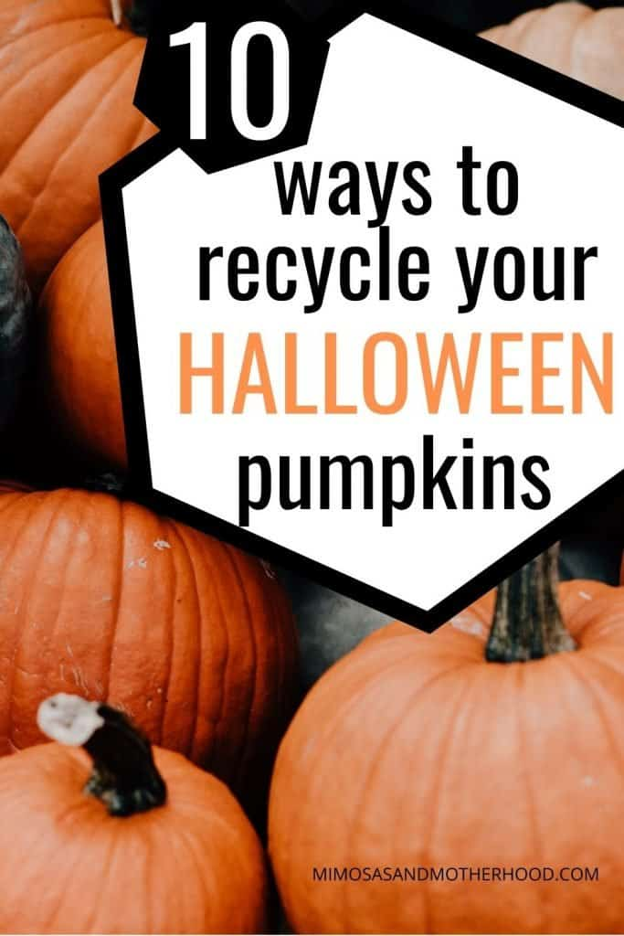 ways to recycle your pumpkins after Halloween