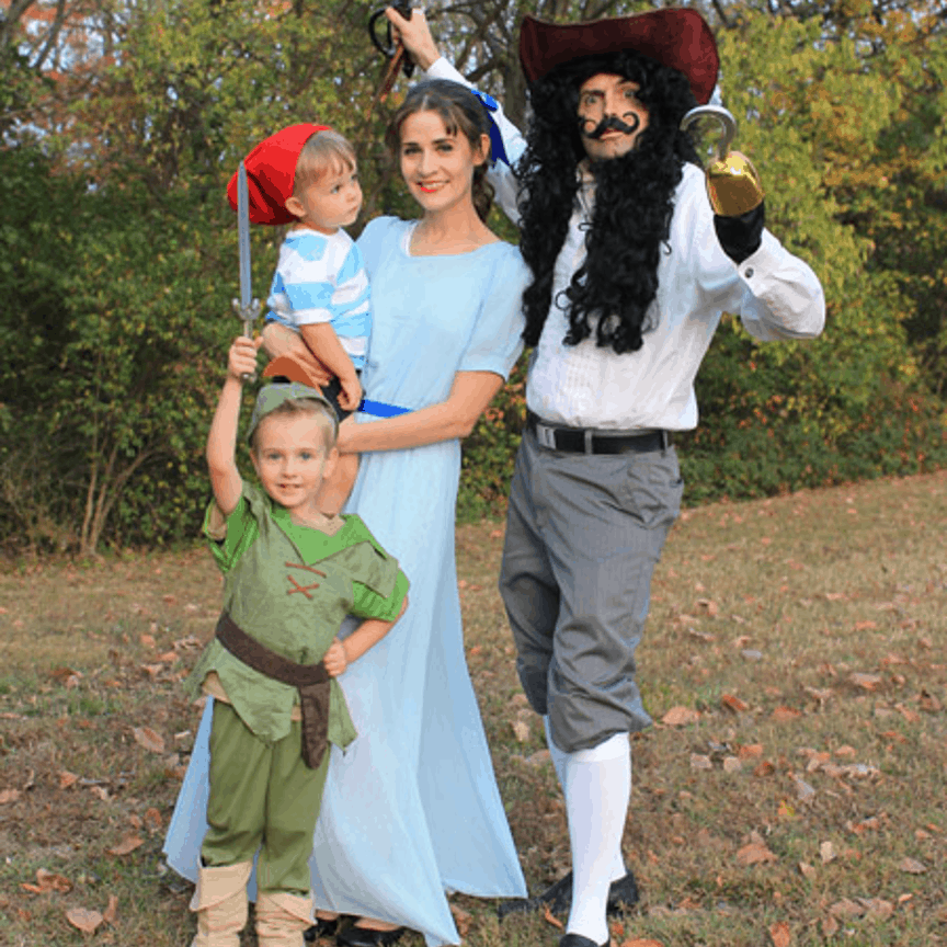 Peter Pan matching halloween costume
