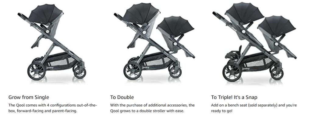 joovy qool stroller growth options