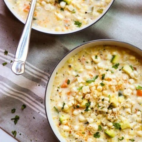 corn and zucchini chowder recipe