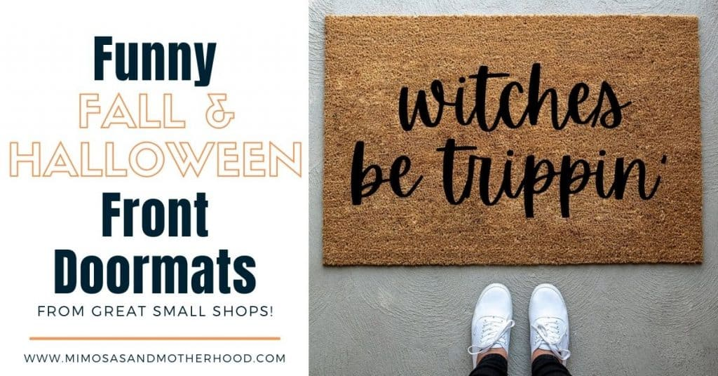 funny fall front door mats funny halloween welcome mats