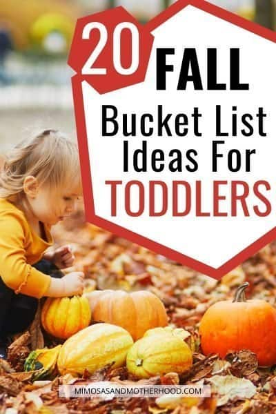 fall bucket list ideas for toddlers