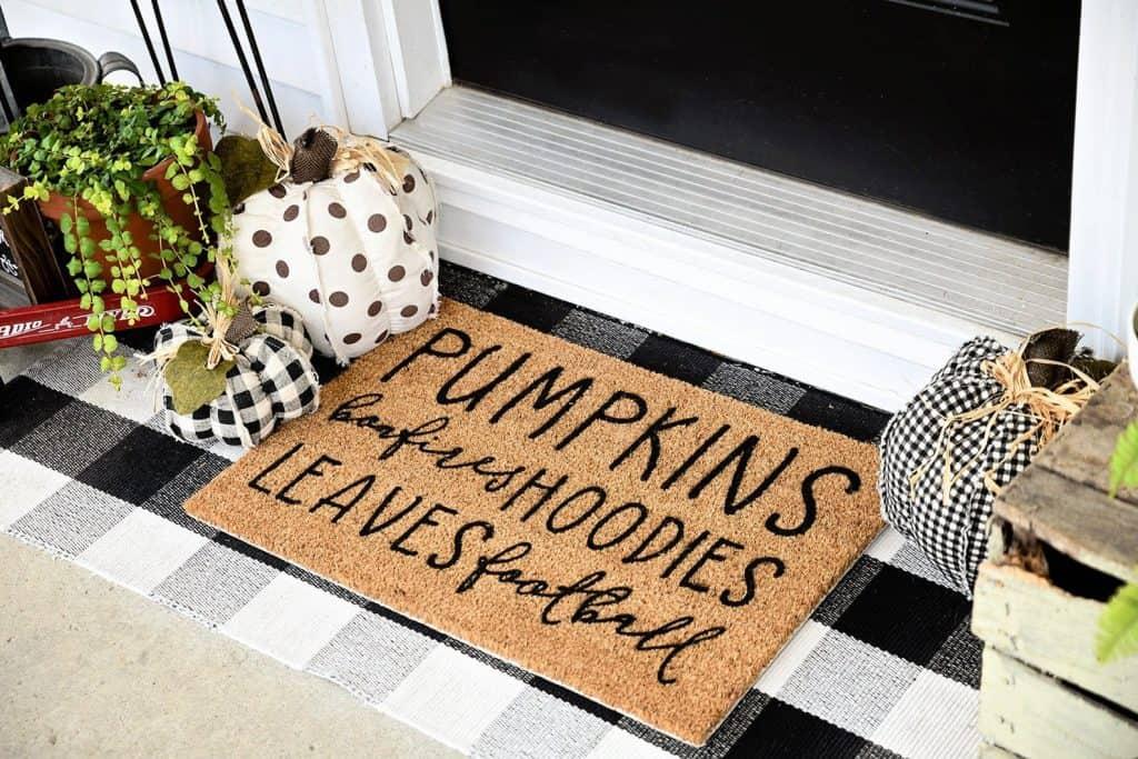 fall vibes front doormat
