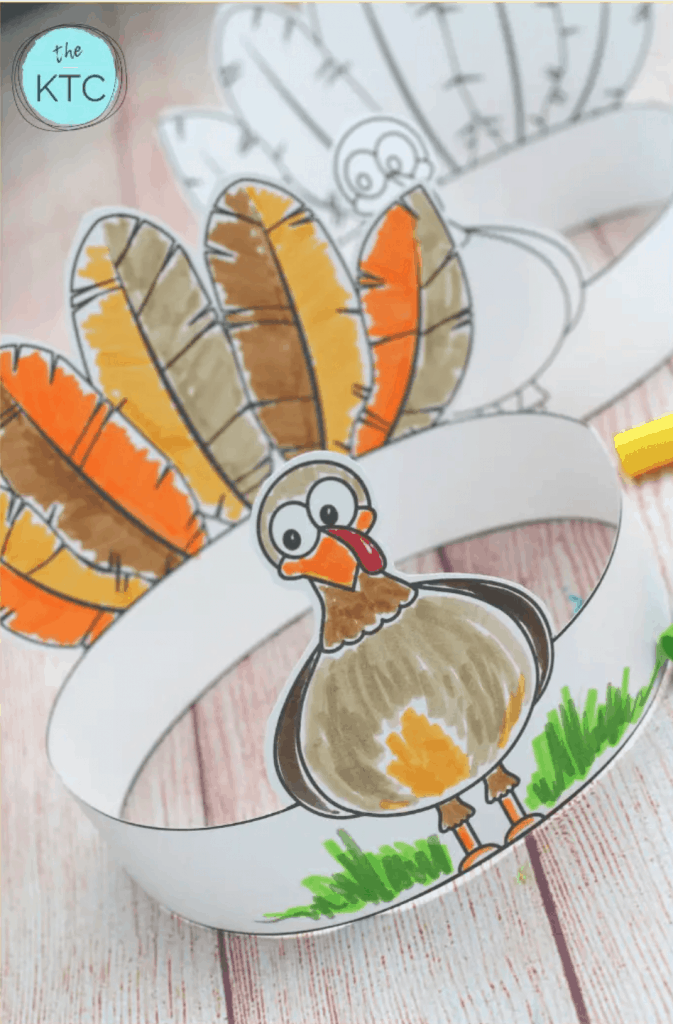 make your own turkey headband