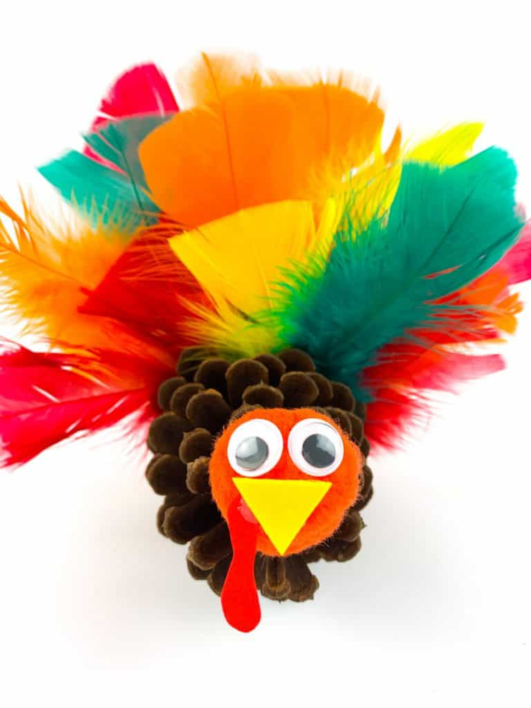 pinecone turkey craft for toddlers