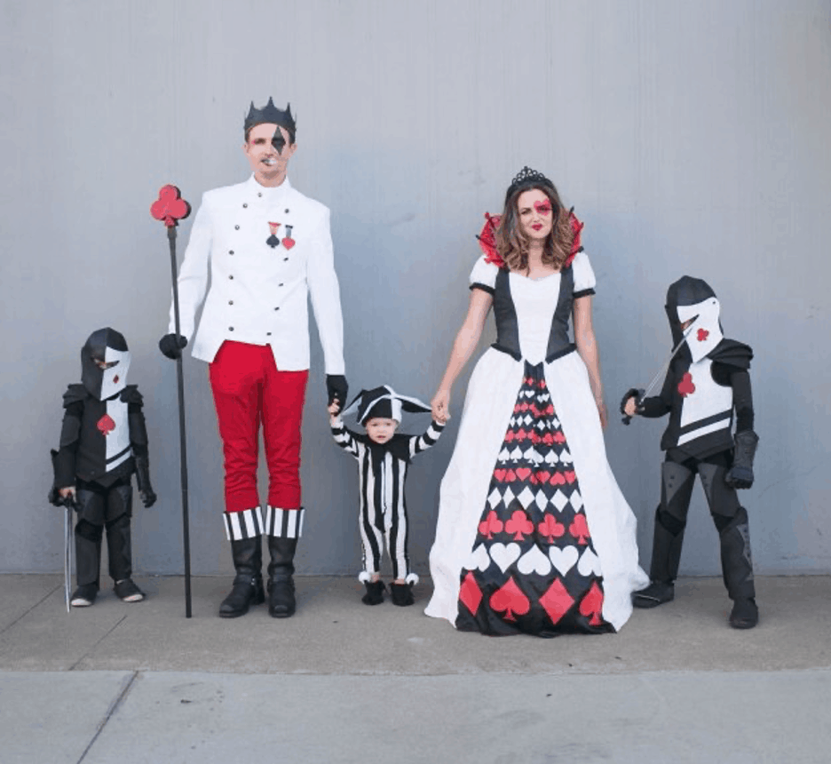 queen of hearts family costume