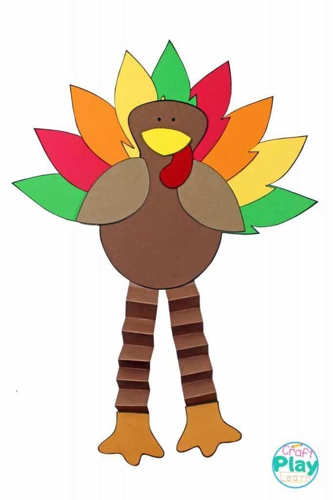 image of Thanksgiving turkey craft for toddlers