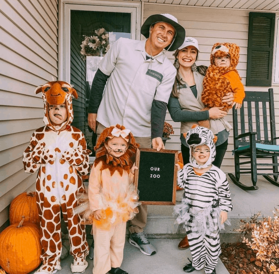 Zookeeper family halloween costume