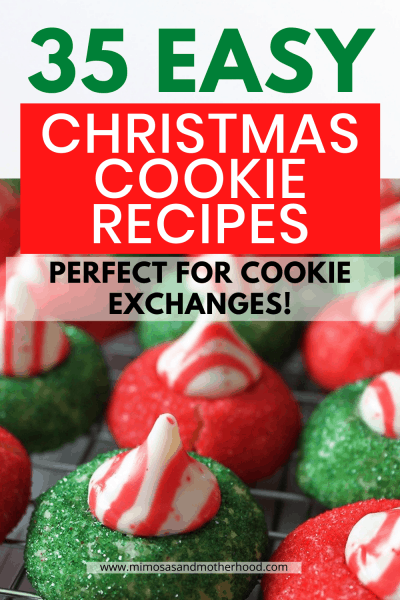 a collection of 35 easy Christmas Cookie recipes
