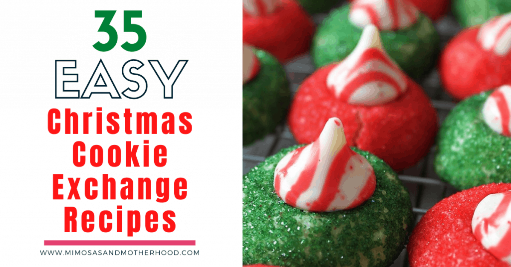 list of 35 easy Christmas Cookie recipes