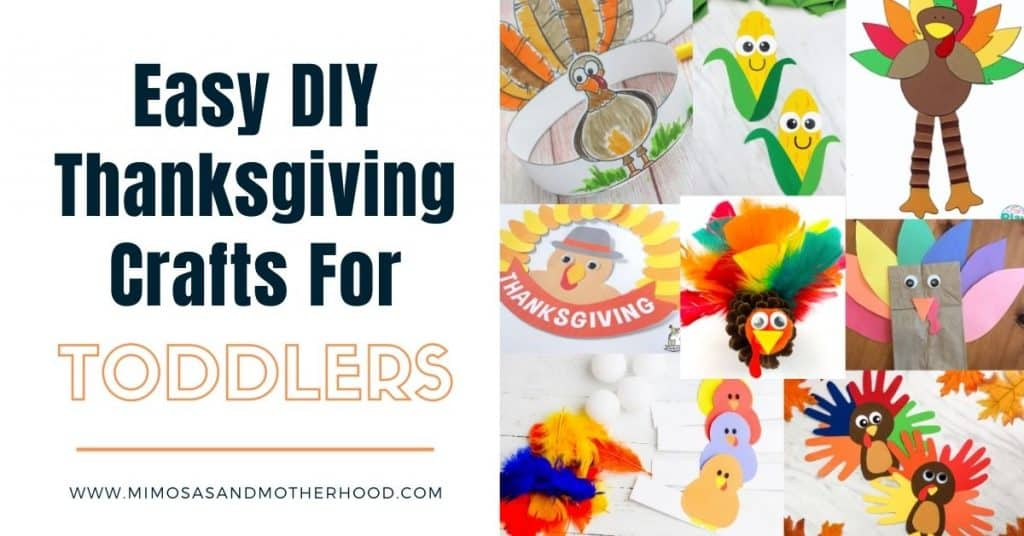 title image for post easy DIY thanksgiving crafts for toddlers