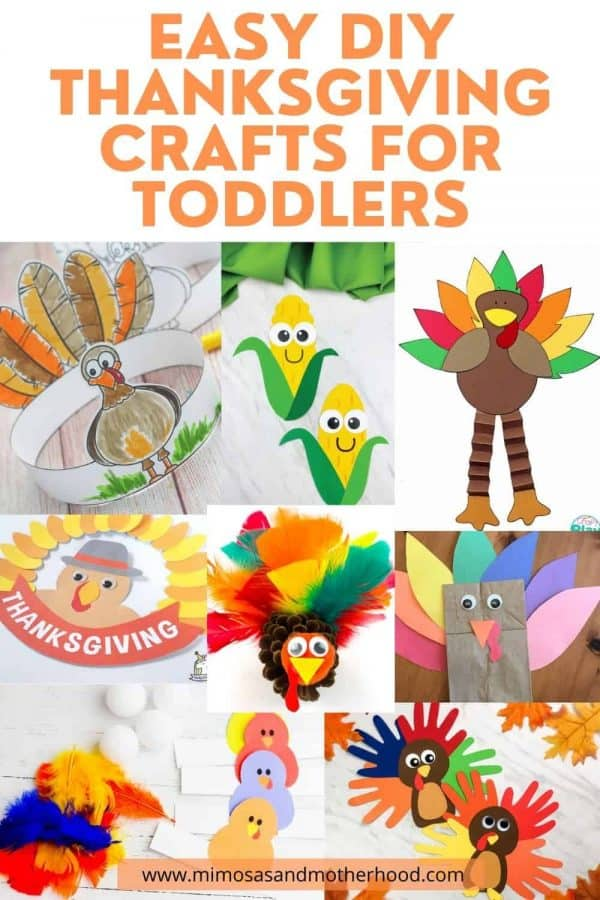 title image for easy thanksgiving crafts