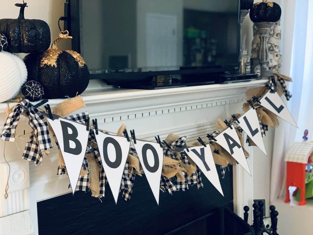 boo y'all halloween banner