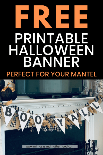 title of free printable halloween banner