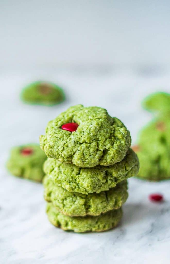 image of grinch cookies