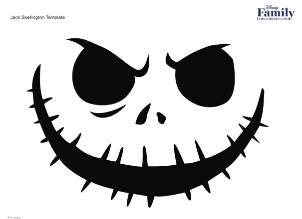 nightmare before Christmas stencil for pumpkin carving