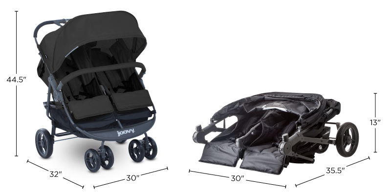 Joovy Scooter X2 Stroller Dimensions