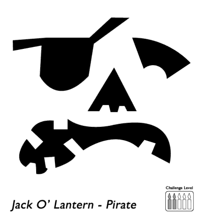 pirate face stencil for pumpkin carving