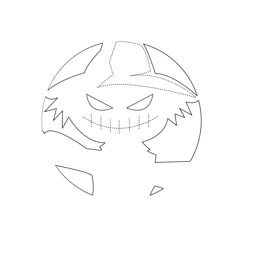 outline of pumpkin carving template