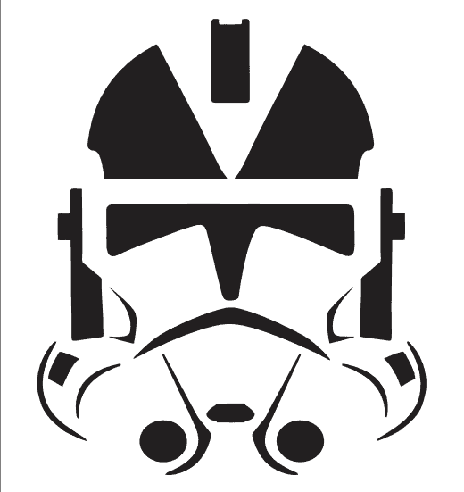 storm trooper Star Wars stencil for pumpkin carving