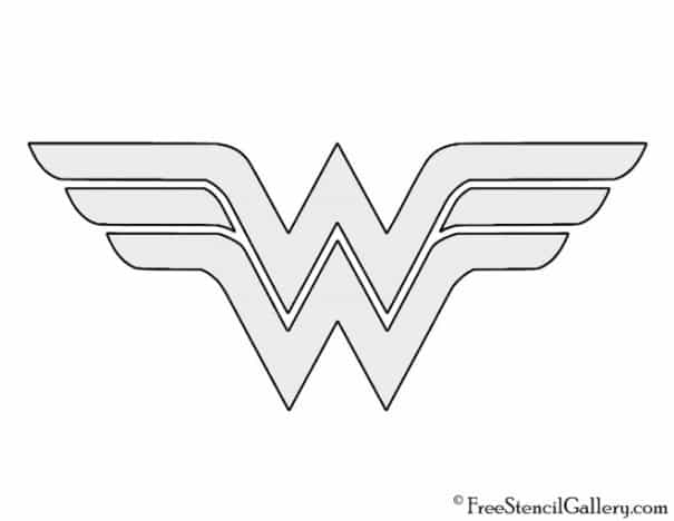 Wonder Woman logo stencil for pumpkin carving