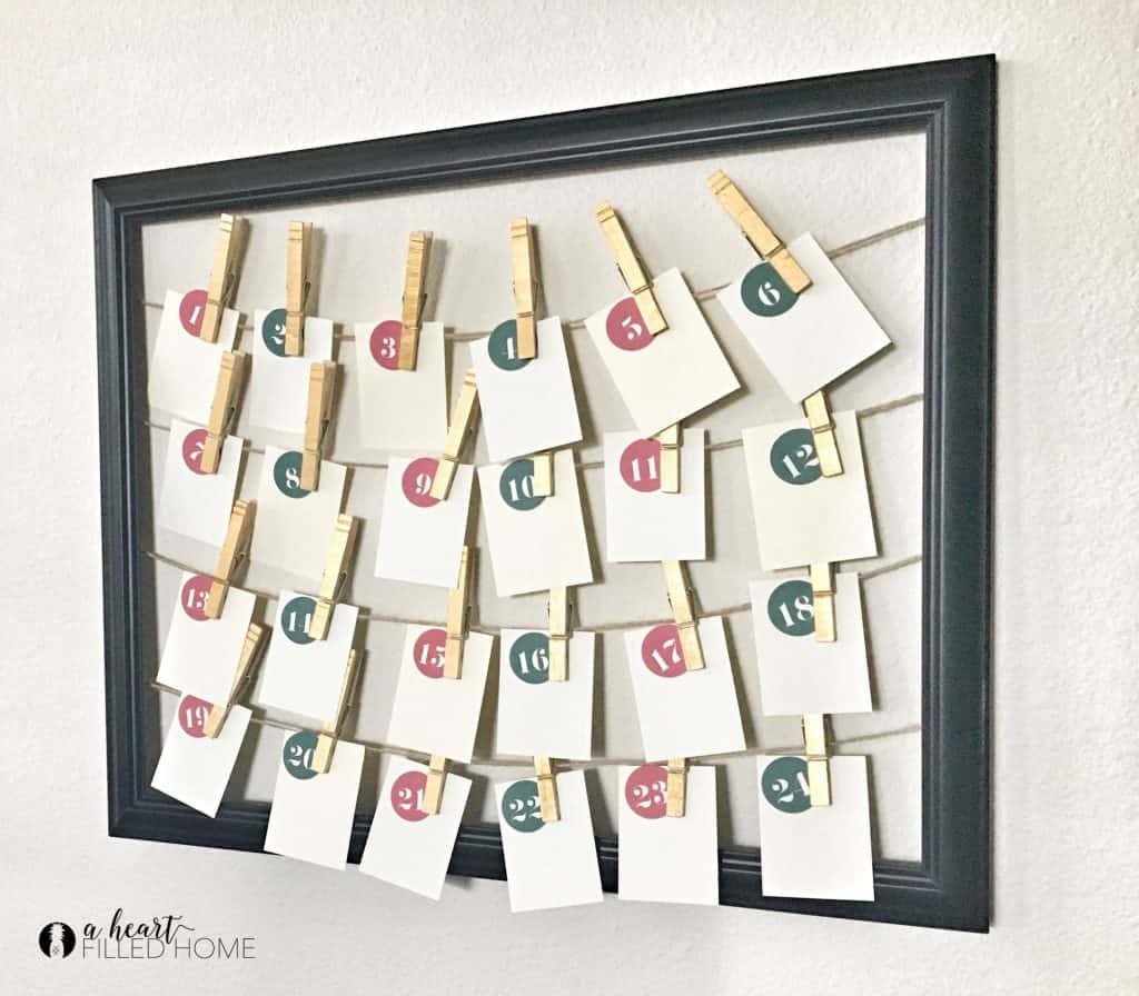 Printable cards for an advent calendar