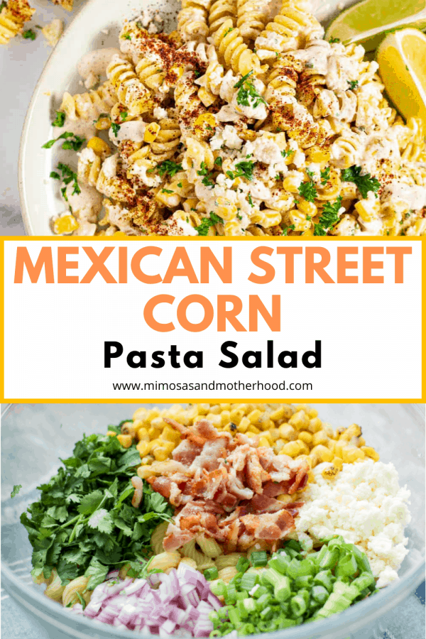 title image for mexican street corn pasta recipe