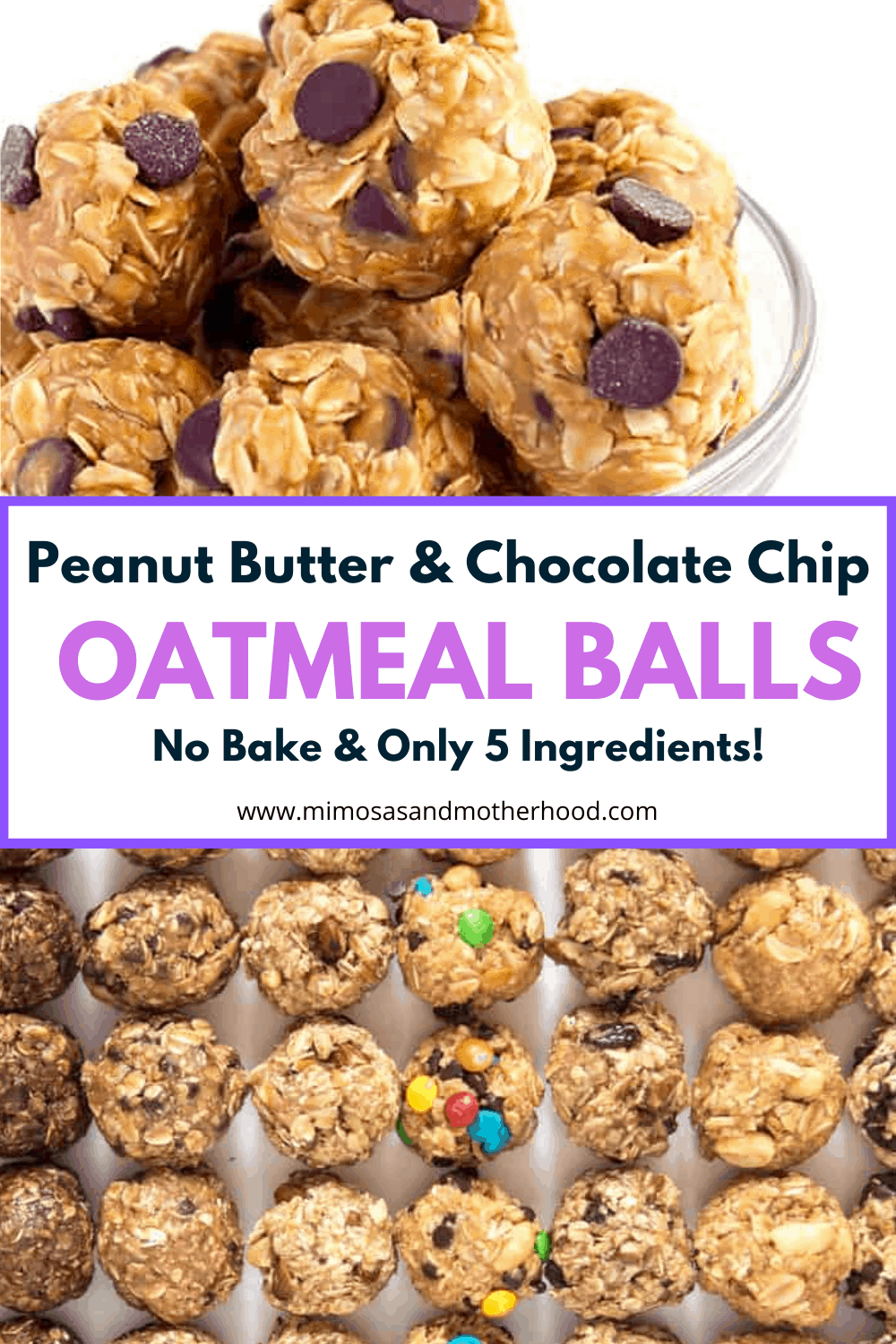 title image for peanut butter chocolate chip energy balls