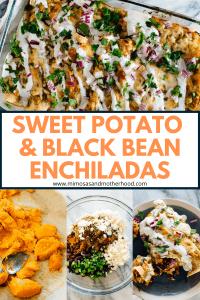 title image for sweet potato enchiladas recipe