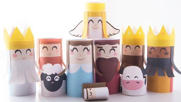 toilet paper roll nativity set