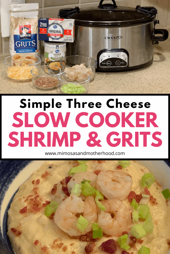 shrimp and grits recipe title image