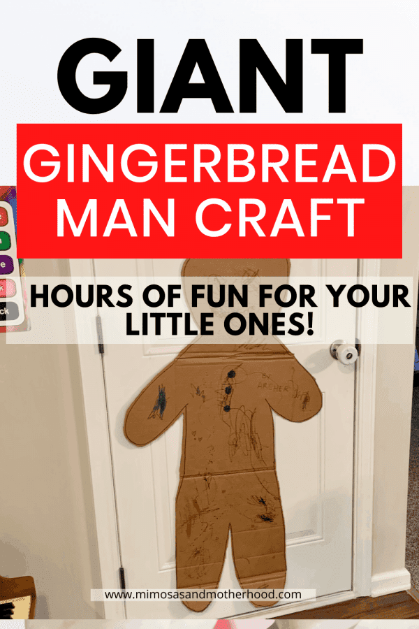 giant gingerbread man craft