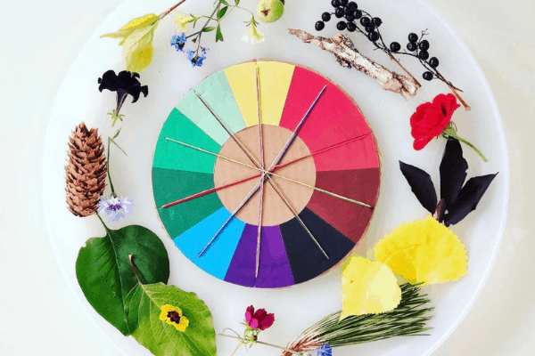 nature color wheel for toddlers
