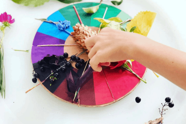 nature color wheel with free printable
