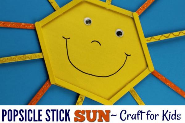 sunshine popsicle stick craft