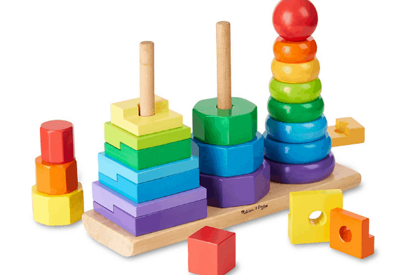 wooden stacking toy- montessori toys for 6 month old